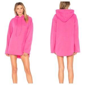 Lovers + Friends Alma Pink Hoodie Sweatshirt Dress